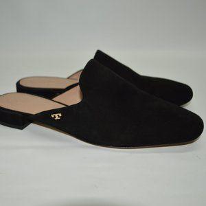 Tory Burch Carlotta Suede Slide Mules Black 7.5M